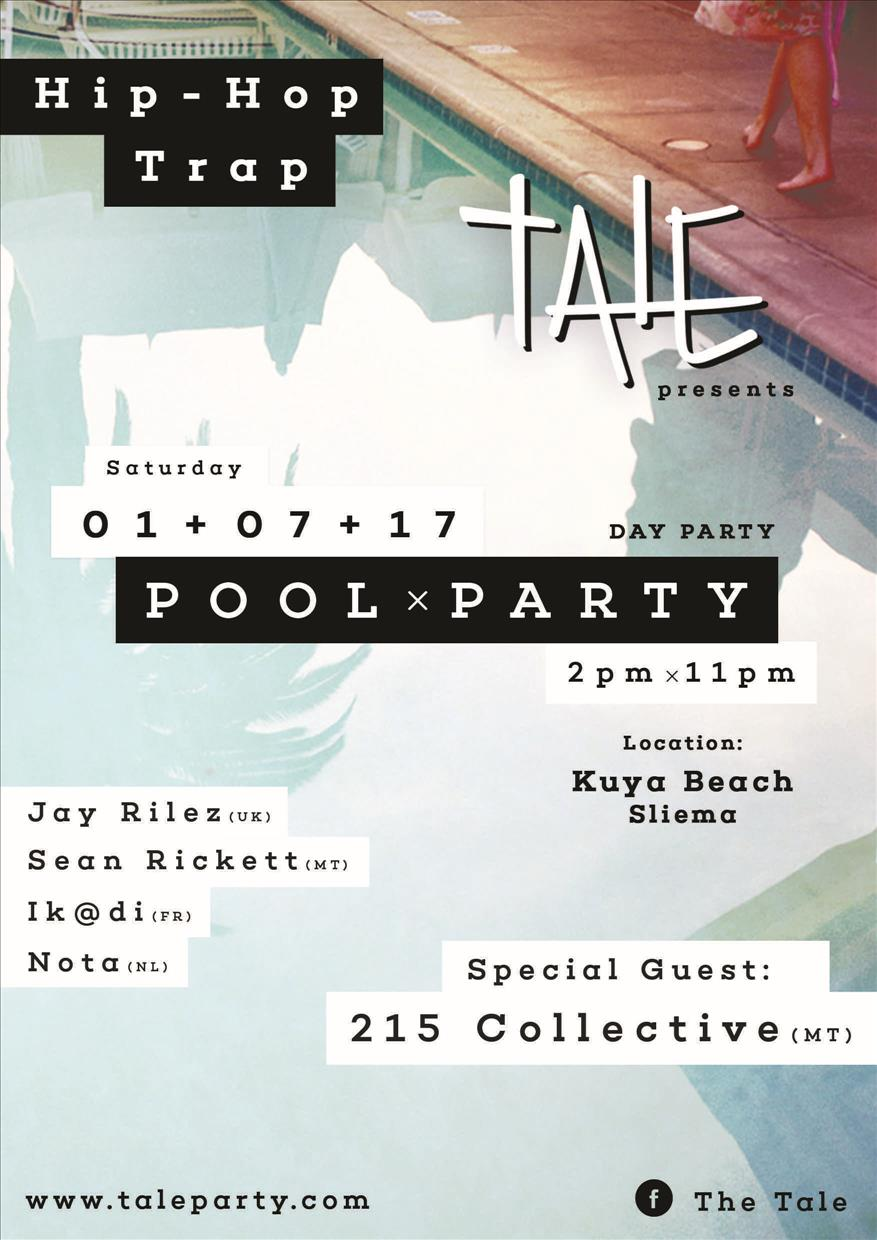 Tale Party: Hip Hop X Trap : Pool Party flyer