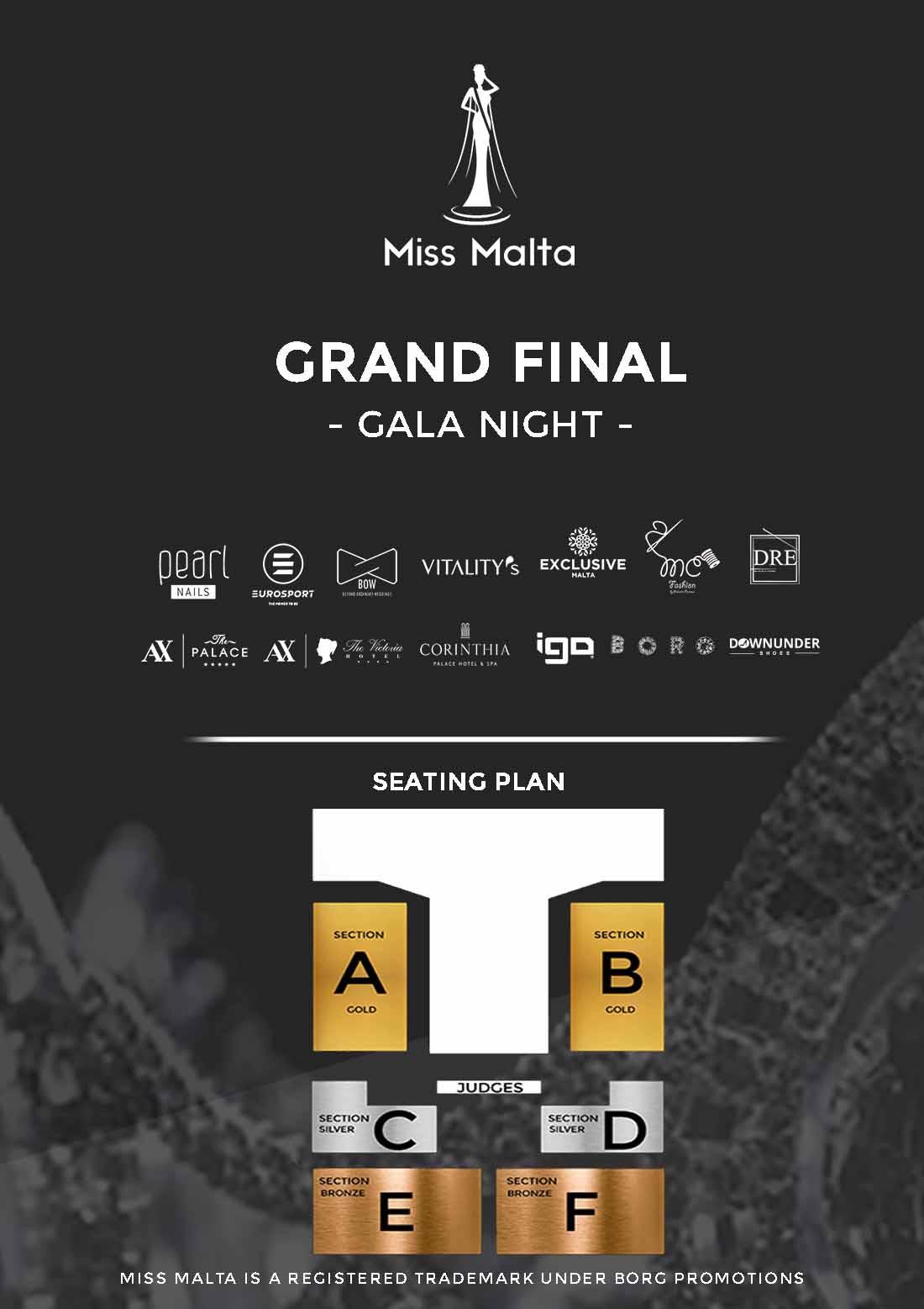 Miss Malta 2020 flyer