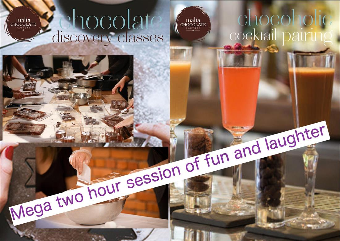 Mega Choc Making & Cocktails Pairing (over two hours) flyer