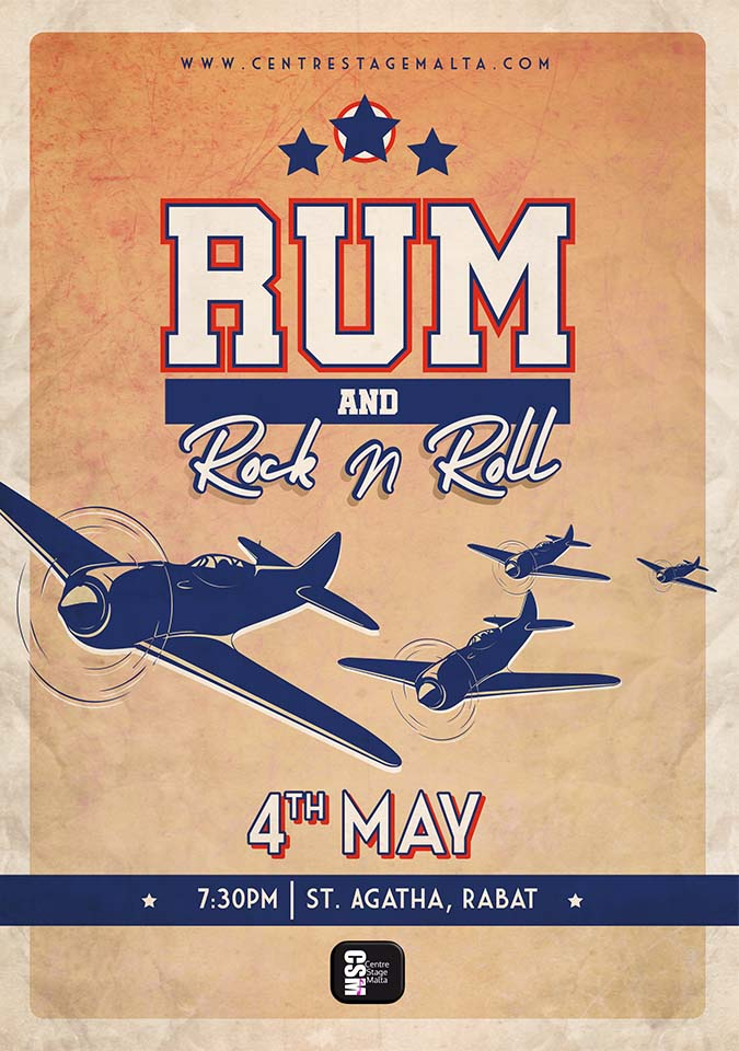 Rum and Rock n Roll flyer