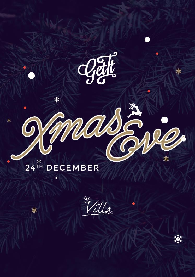 XMAS EVE AT THE VILLA flyer