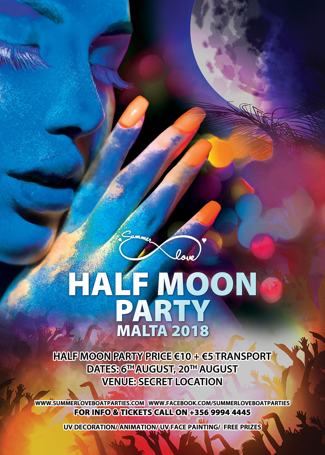 Half Moon Party flyer