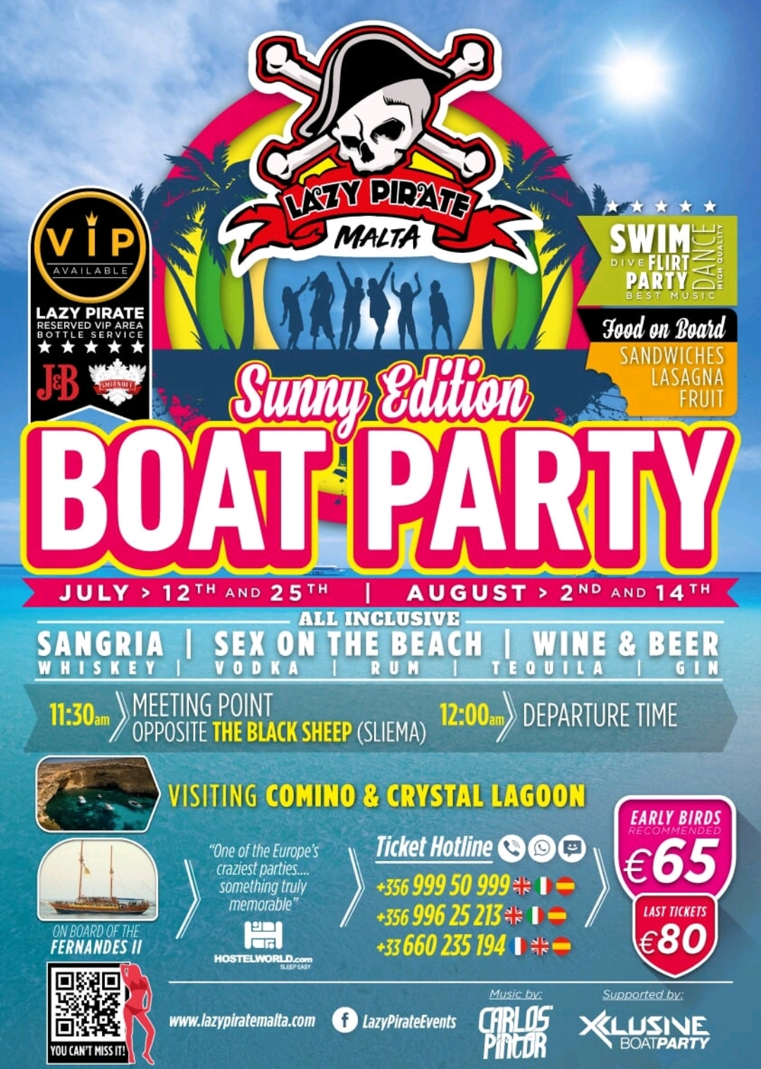 Lazy Pirate Sunny Edition flyer
