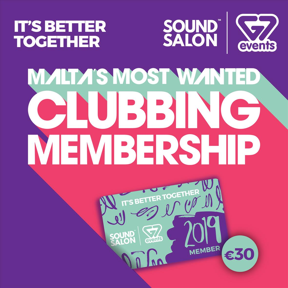 G7 Events & Sound Salon - 2019 Membership Card flyer