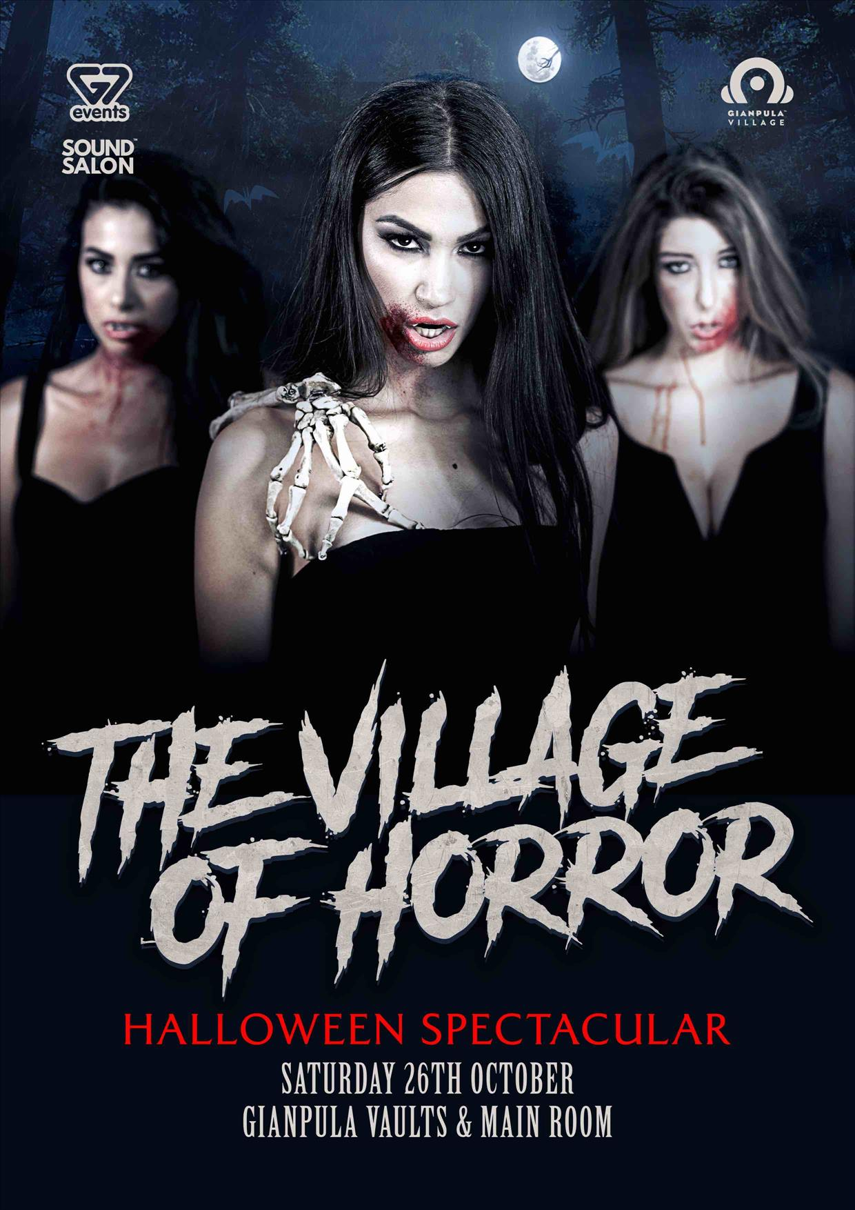 The Village of Horror- Halloween Spectacular flyer