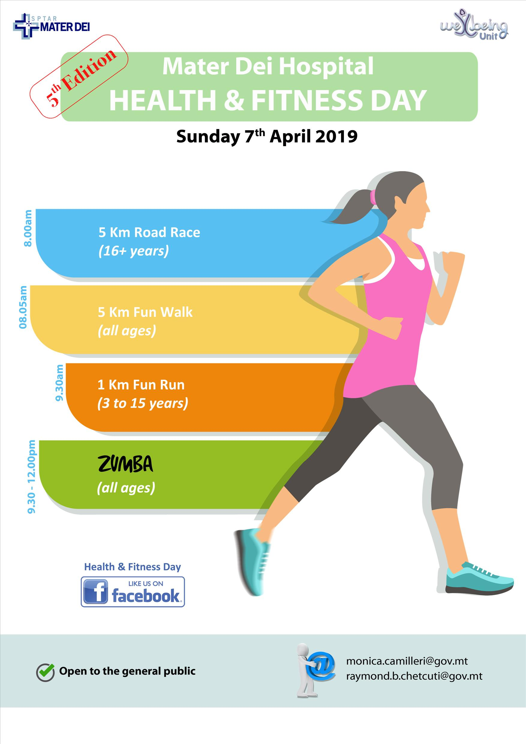 Health & Fitness Day 2019 flyer