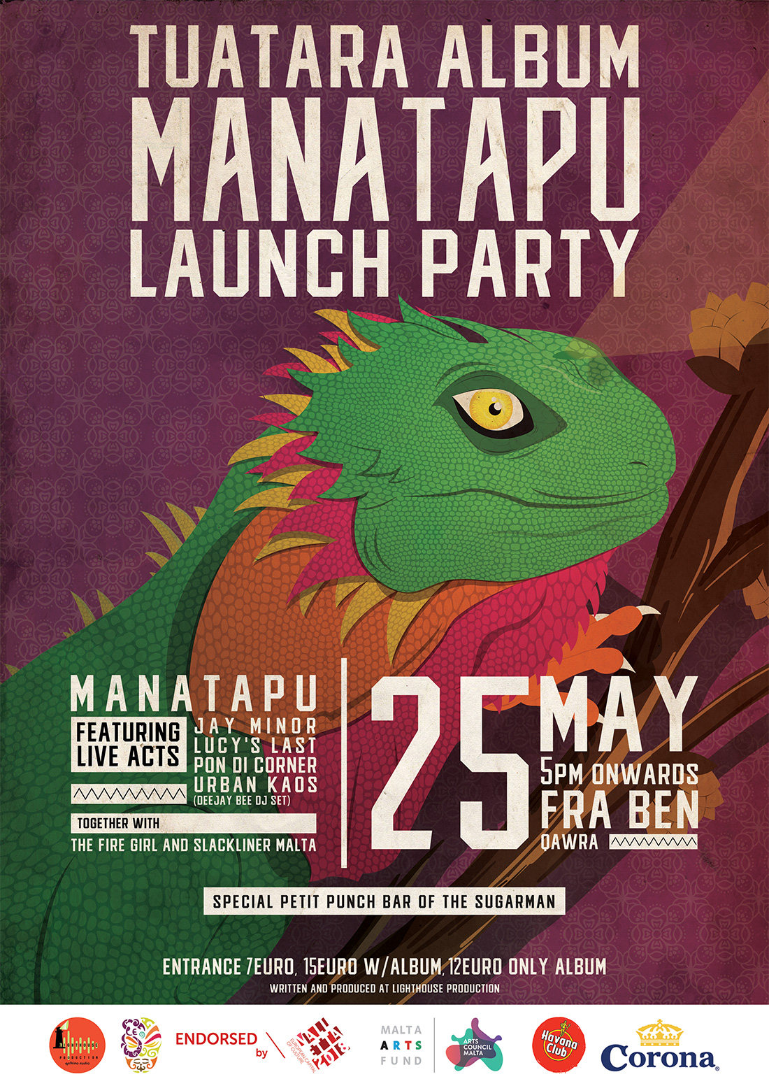 TuaTara - Album Launch flyer