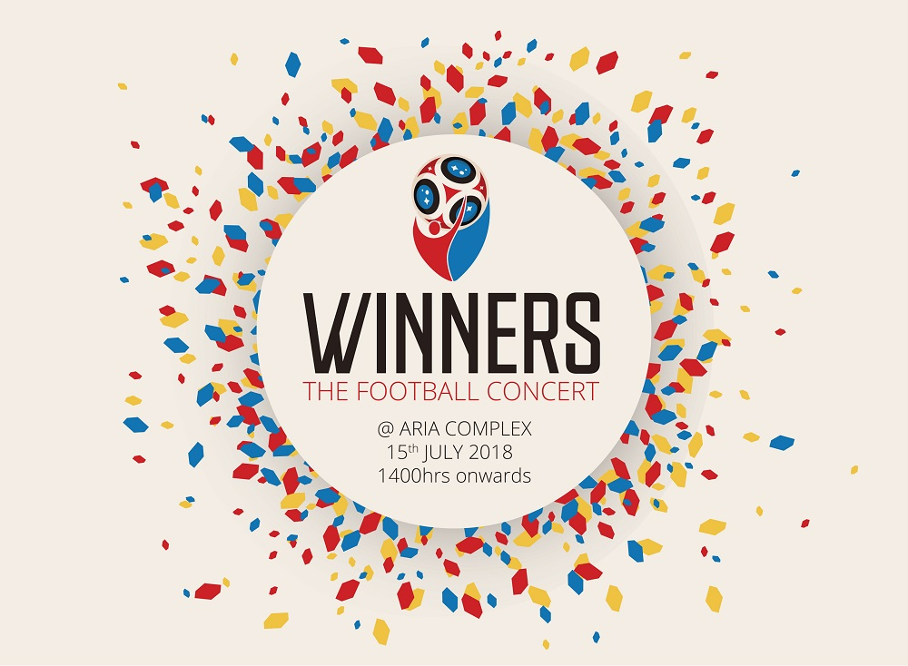 Winners The Football Concert flyer