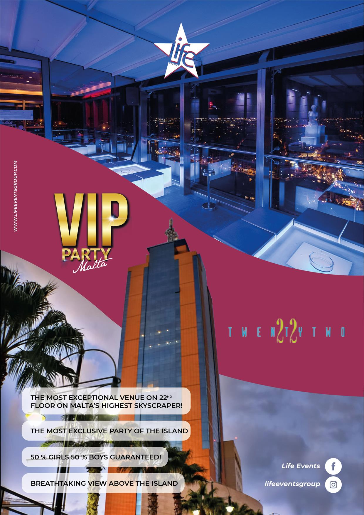 VIP Party Malta by Life Events flyer