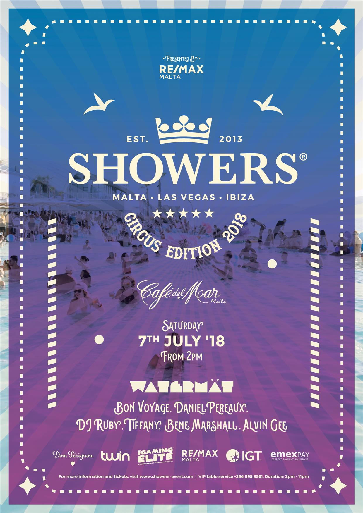 Showers 2018 Festival flyer