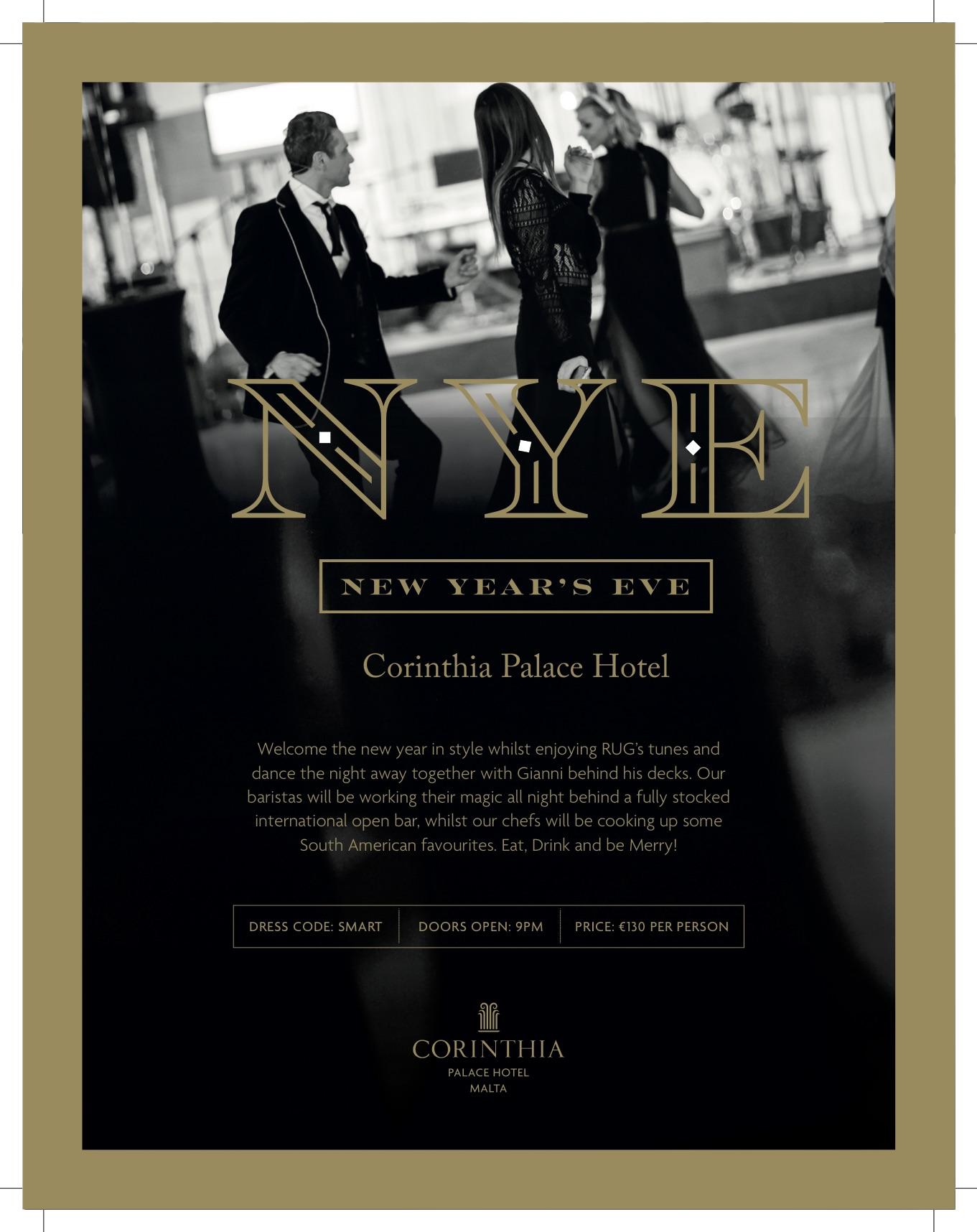 NYE at the Corinthia Palace flyer