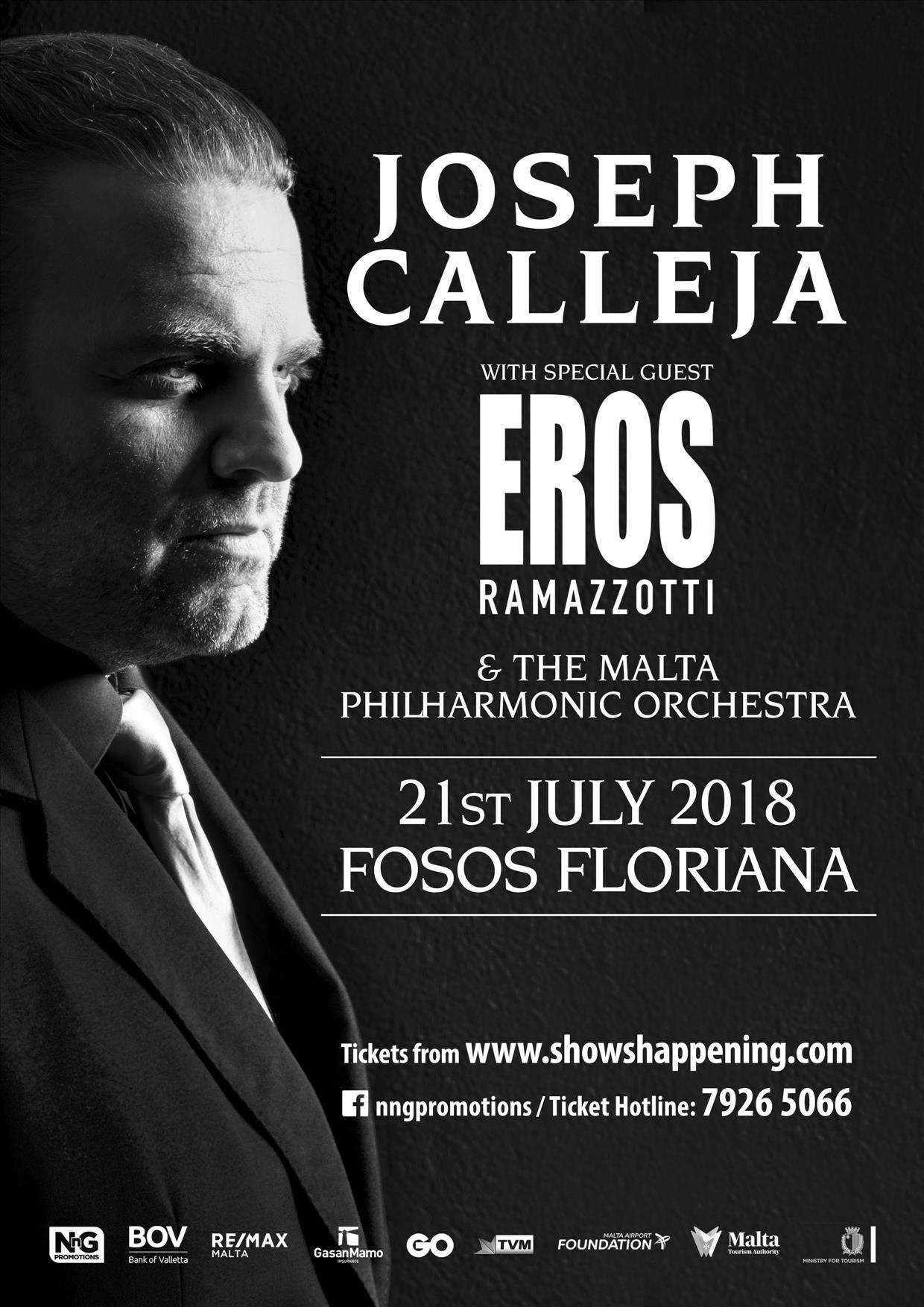 Joseph Calleja 2018 flyer