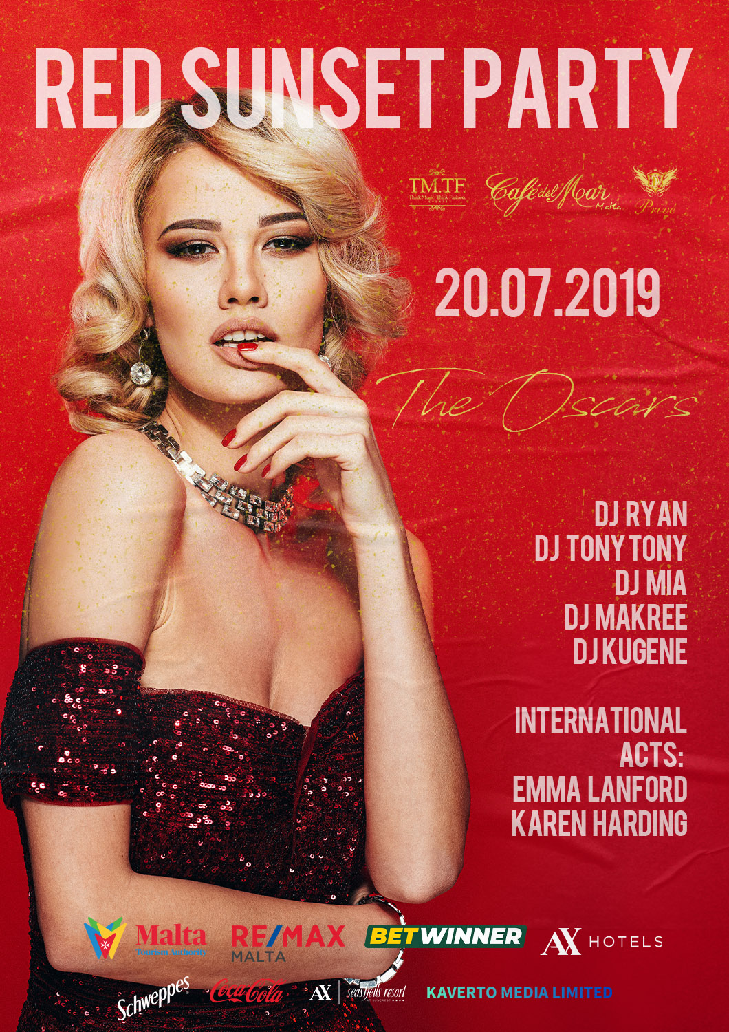 Red Sunset Party 2019 flyer