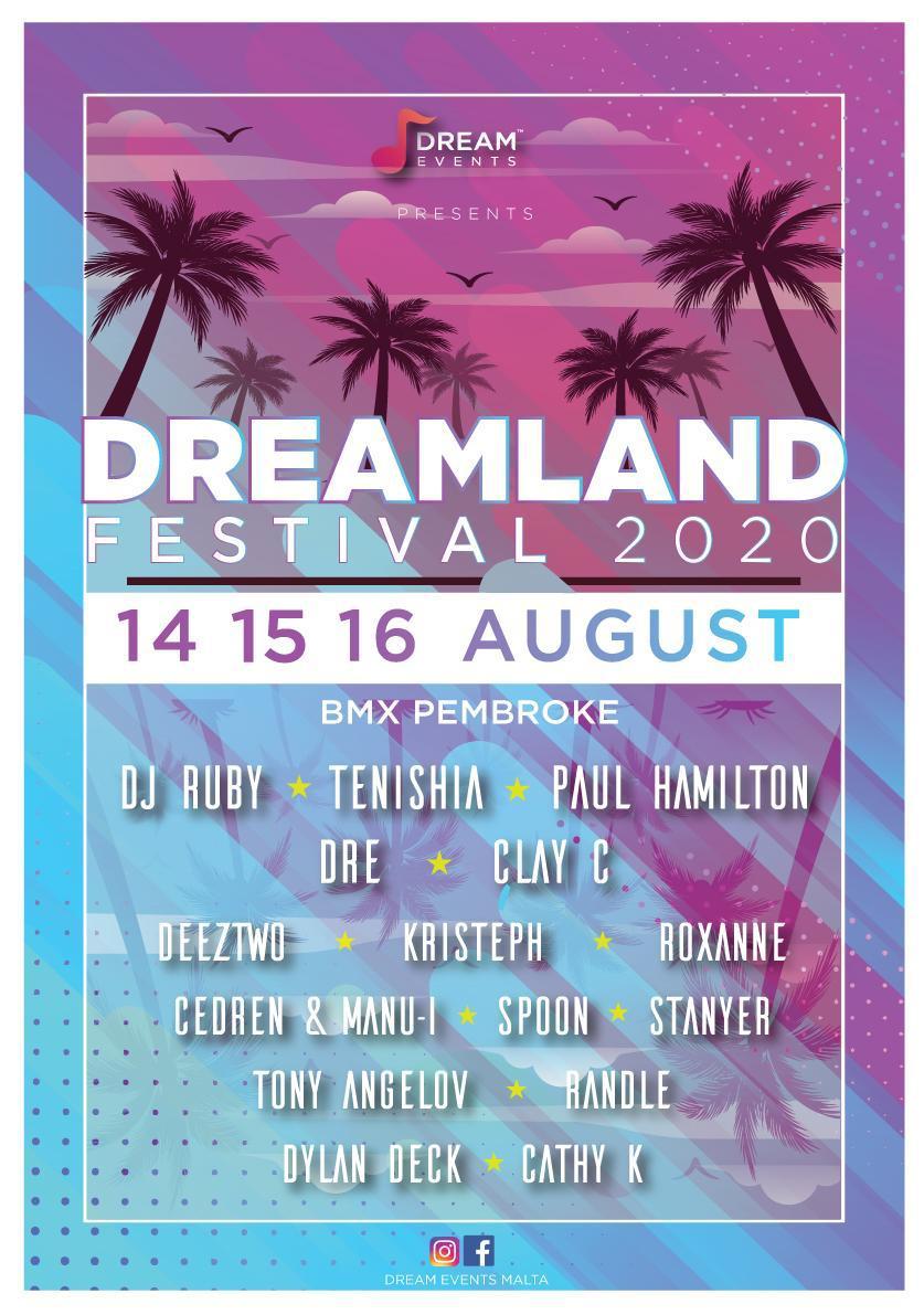Dreamland Festival flyer