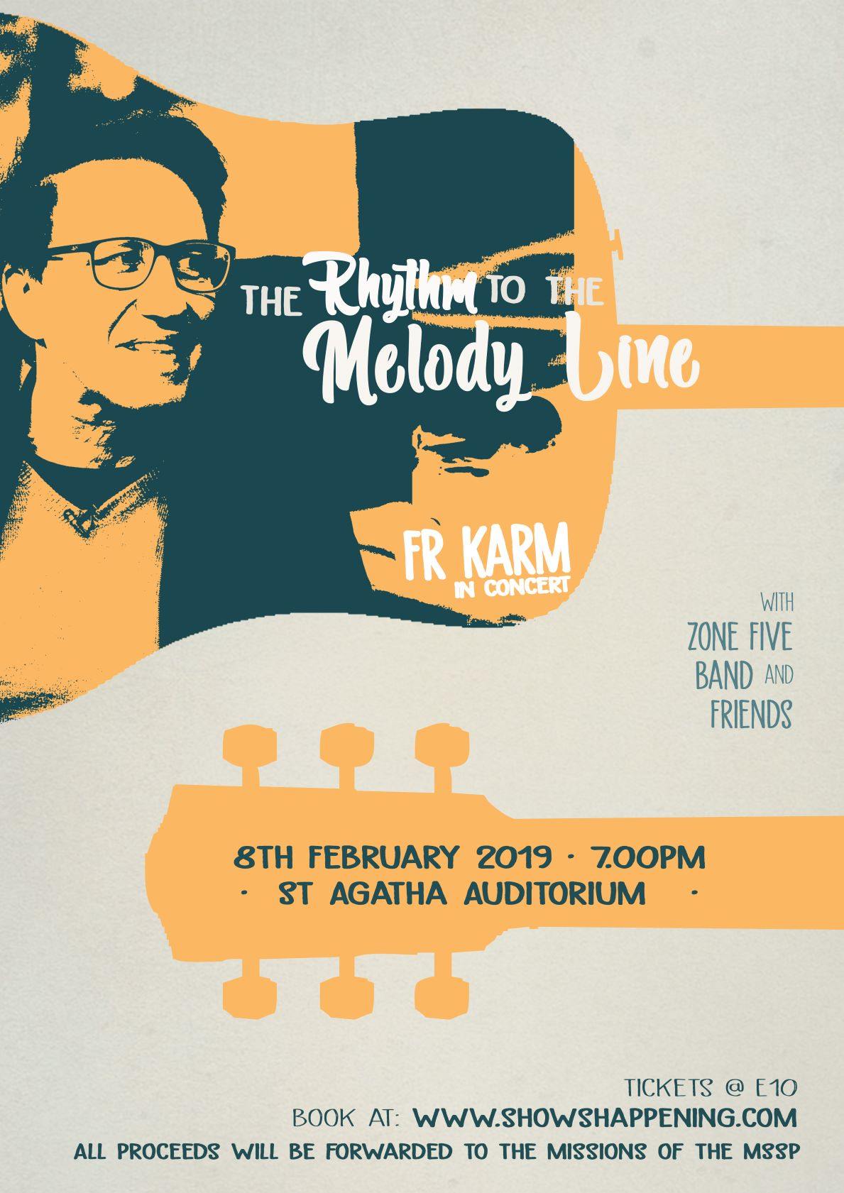 Fr Karm in Concert - The Rhythm to the Melody Line flyer