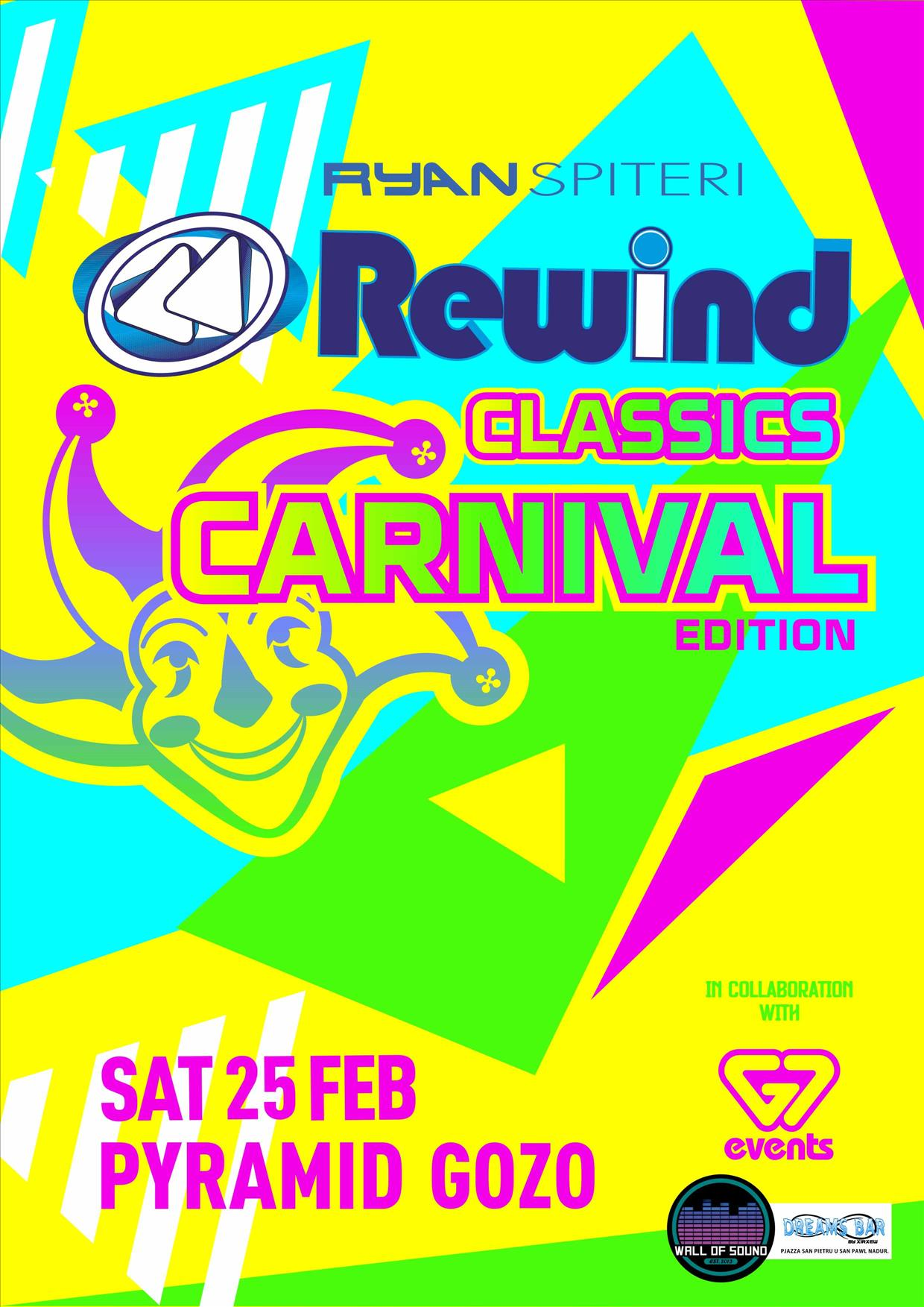 REWIND Classics - Gozo Carnival Edition flyer