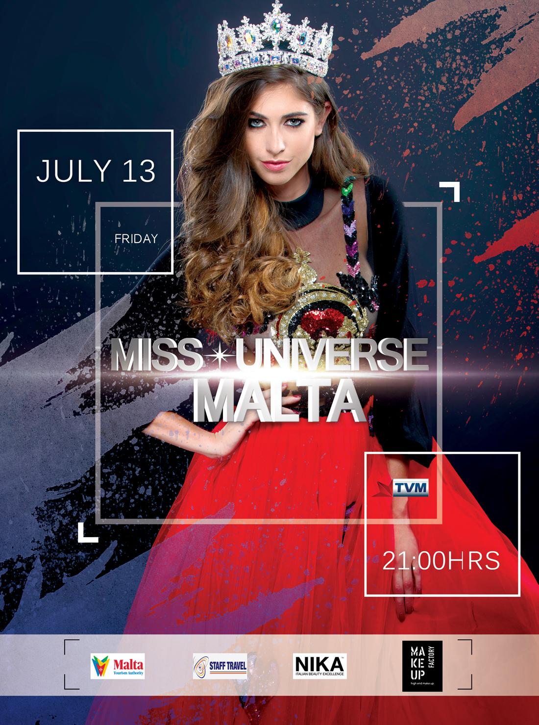 Miss Universe Malta 2018 flyer