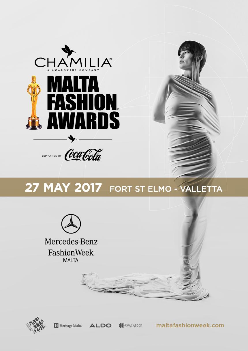 The Chamilia Malta Fashion Awards 2017 flyer