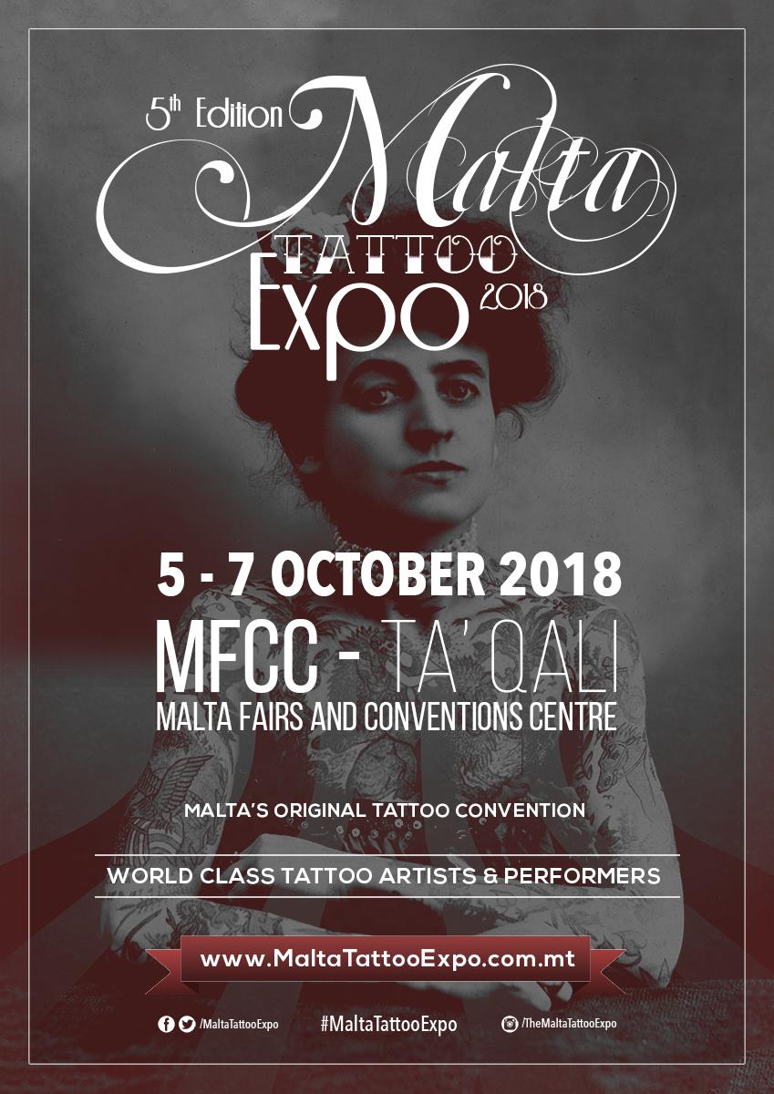 Malta Tattoo Expo 2018 flyer
