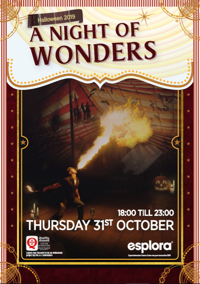 A Night of Wonders - Halloween 2019 flyer