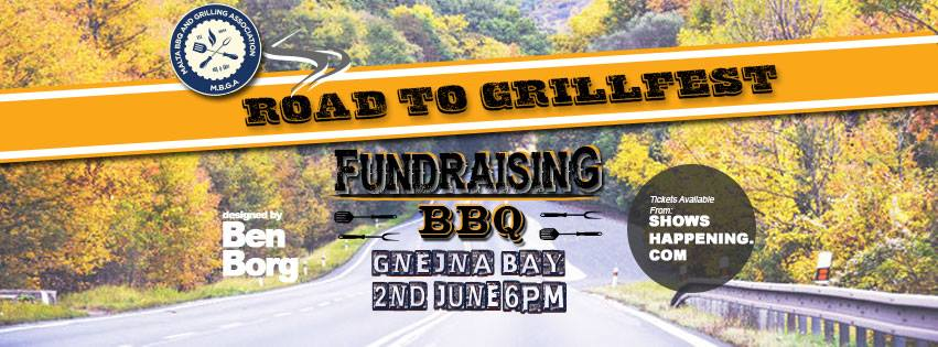 Road to Grillfest Fundraising BBQ flyer