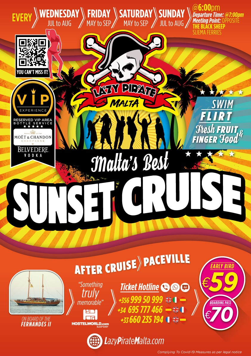 Lazy Pirate Sunset Cruise poster