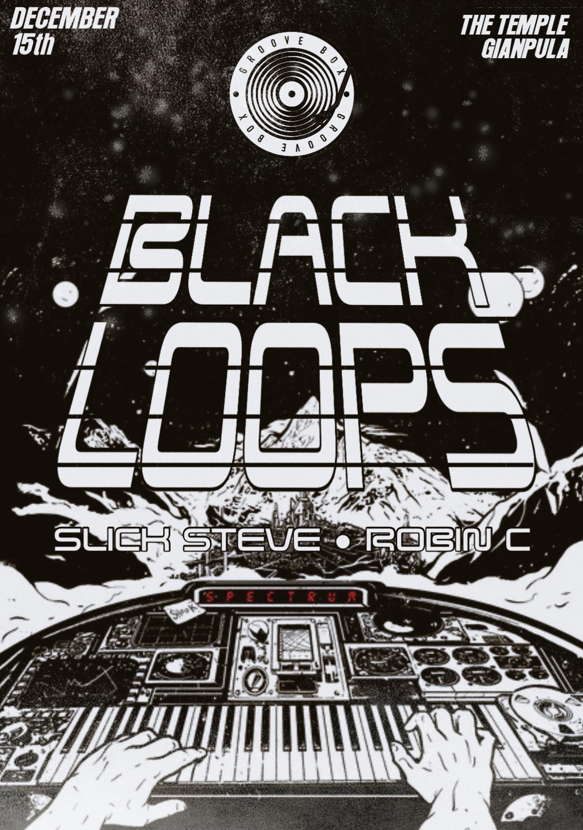 GrooveBox Presents Black Loops flyer