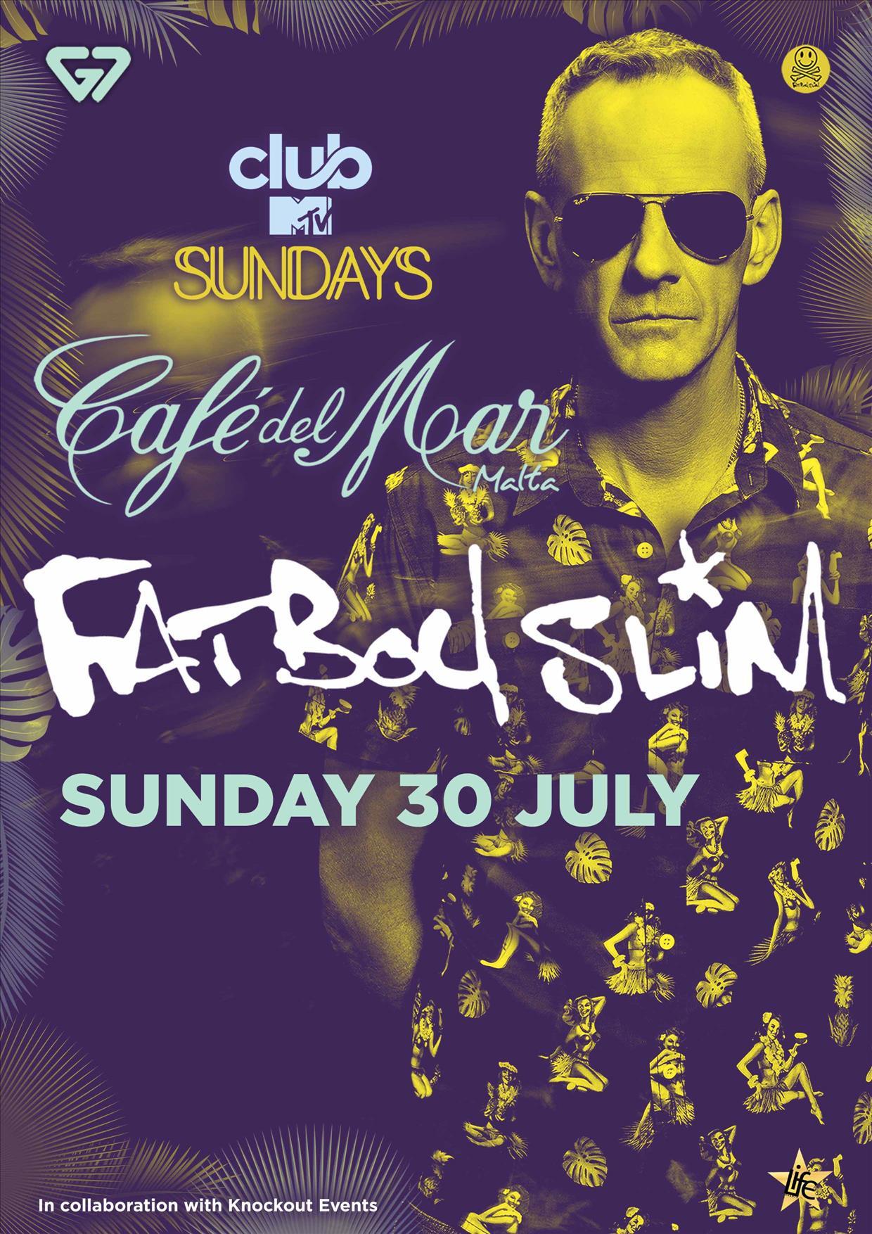Cafe Del Mar Sunset Special Ft. FAT BOY SLIM flyer