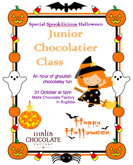 Spookalicious Junior Chocolatier Class flyer
