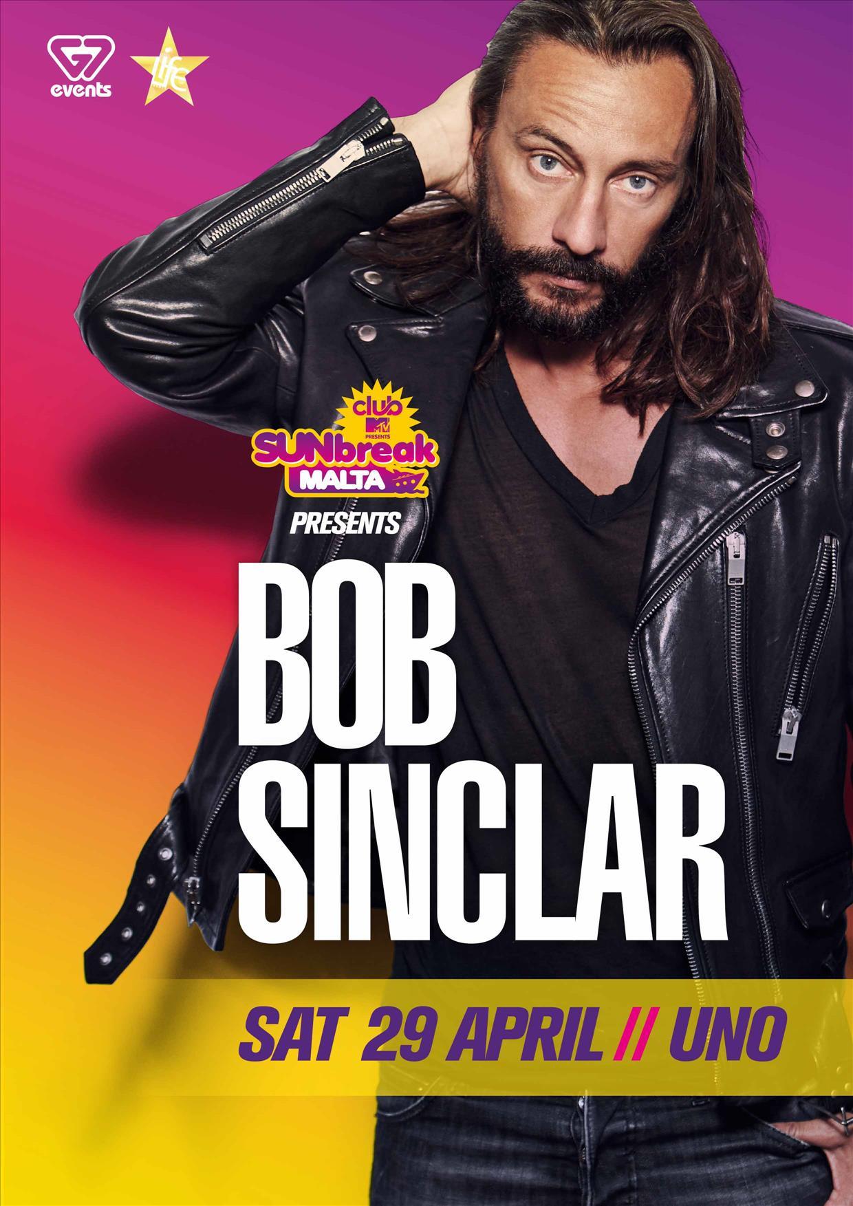 Sunbreak Malta Club MTV Present BOB SINCLAR at UNO flyer