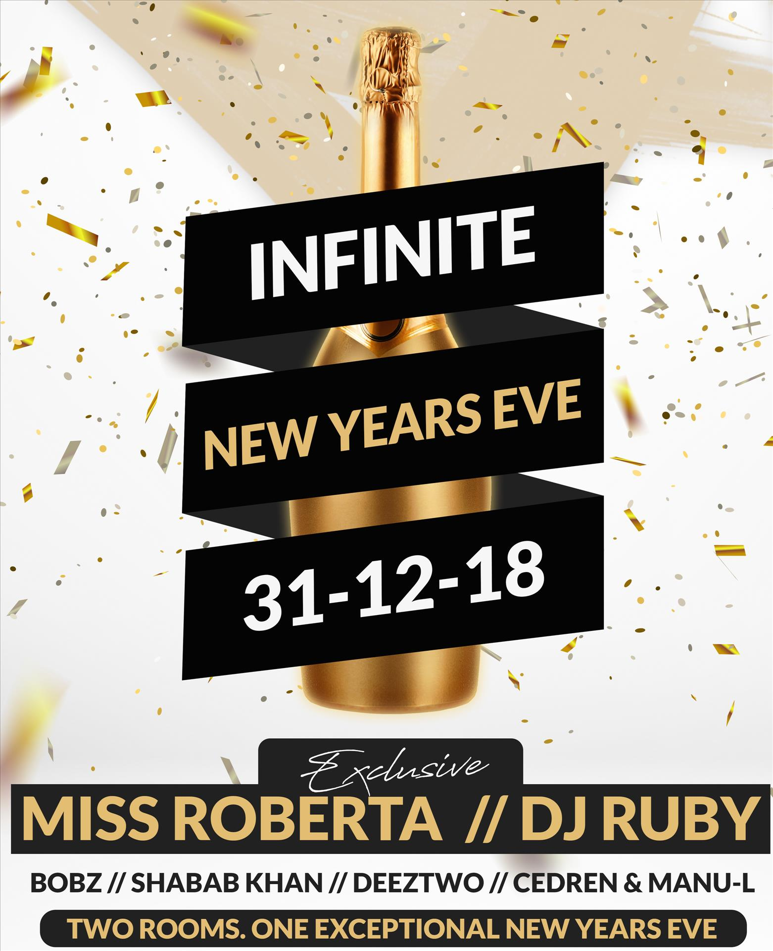 Infinite New Years Eve at Infinity By Hugo's flyer