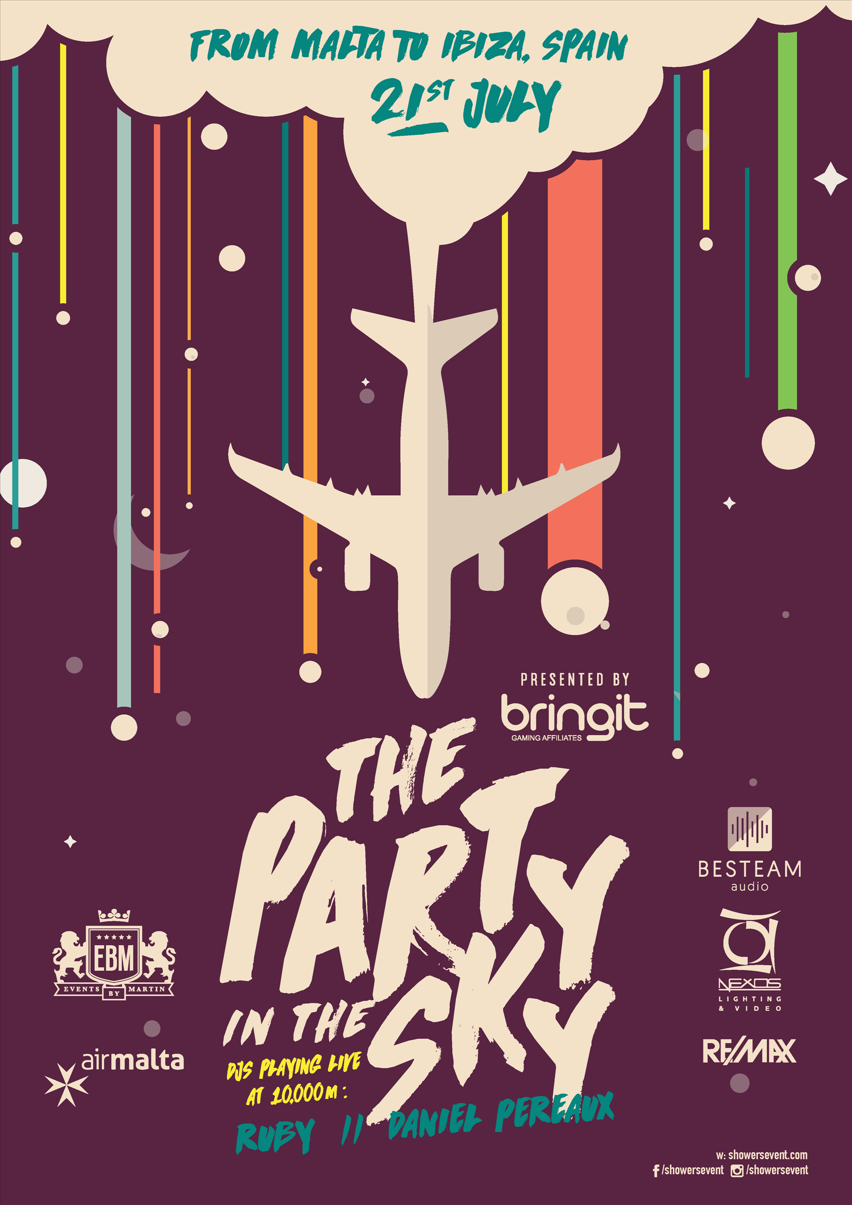 The Party In The Sky flyer