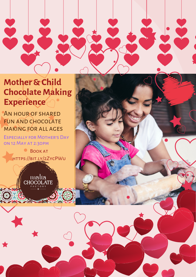 Mother's Day Mother And Child Chocolate Making Fun flyer