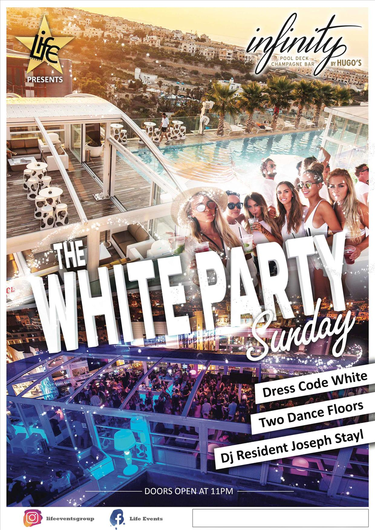 The White Party Malta By Life Events flyer