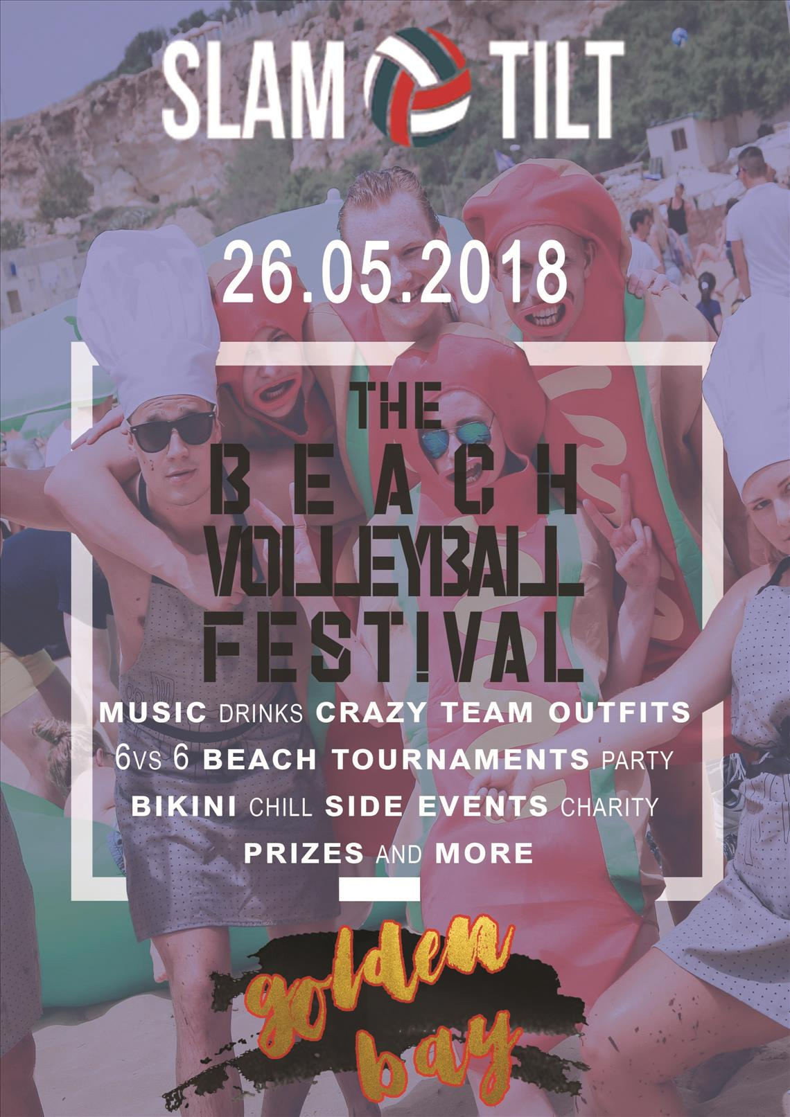 Slam Tilt - The Beach Volleyball Festival @ Golden Bay flyer