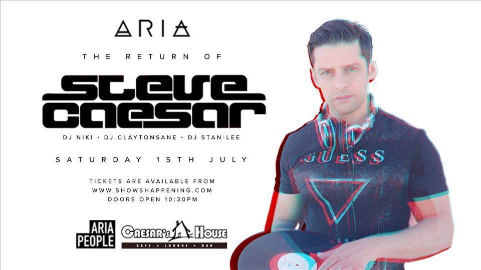 The return of Steve Caesar flyer