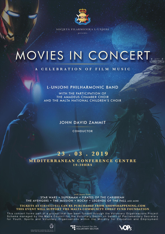 Movies In Concert flyer