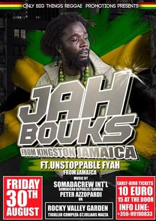 JaH Bouks & Unstoppable Fyah flyer