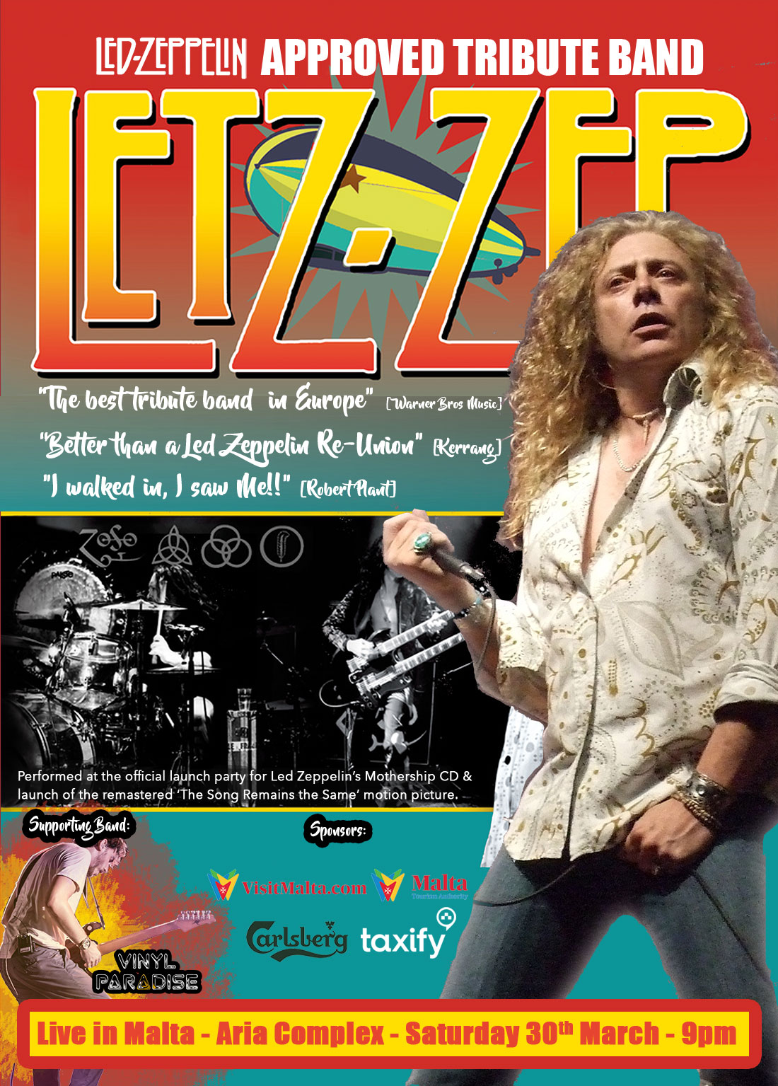 Letz-Zep Live! The Official Led Zeppelin Tribute Band flyer
