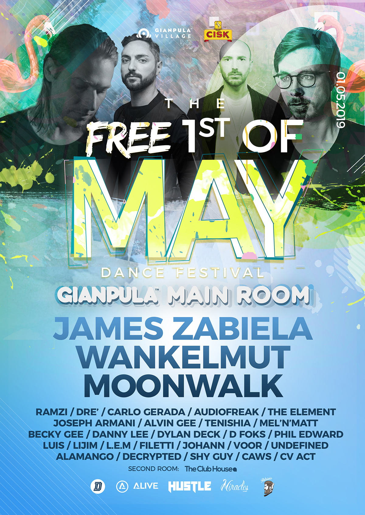 The Free 1st of May Dance Music Festival 2019 flyer