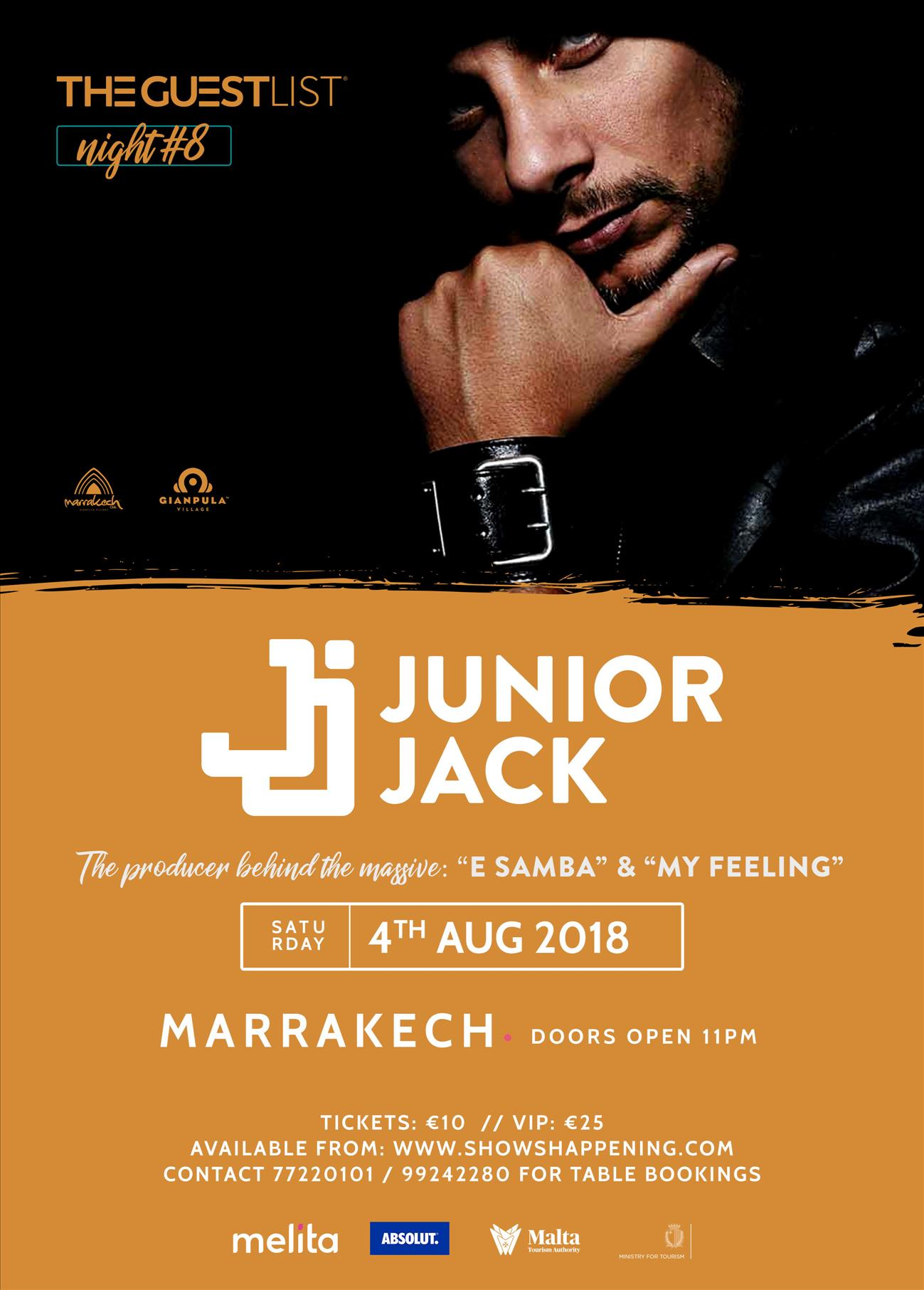 JUNIOR JACK - 04/08/2018 - MARRAKECH CLUB