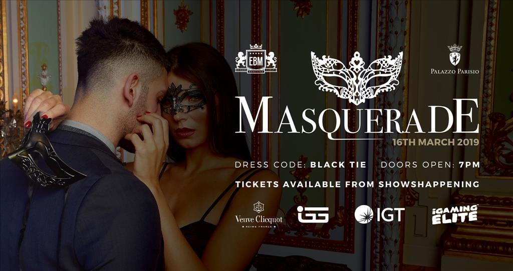 EBM Masquerade at Palazzo Parisio flyer