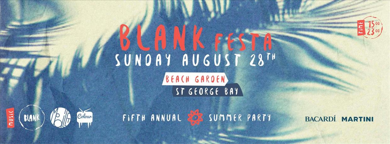 BLANK Festa flyer