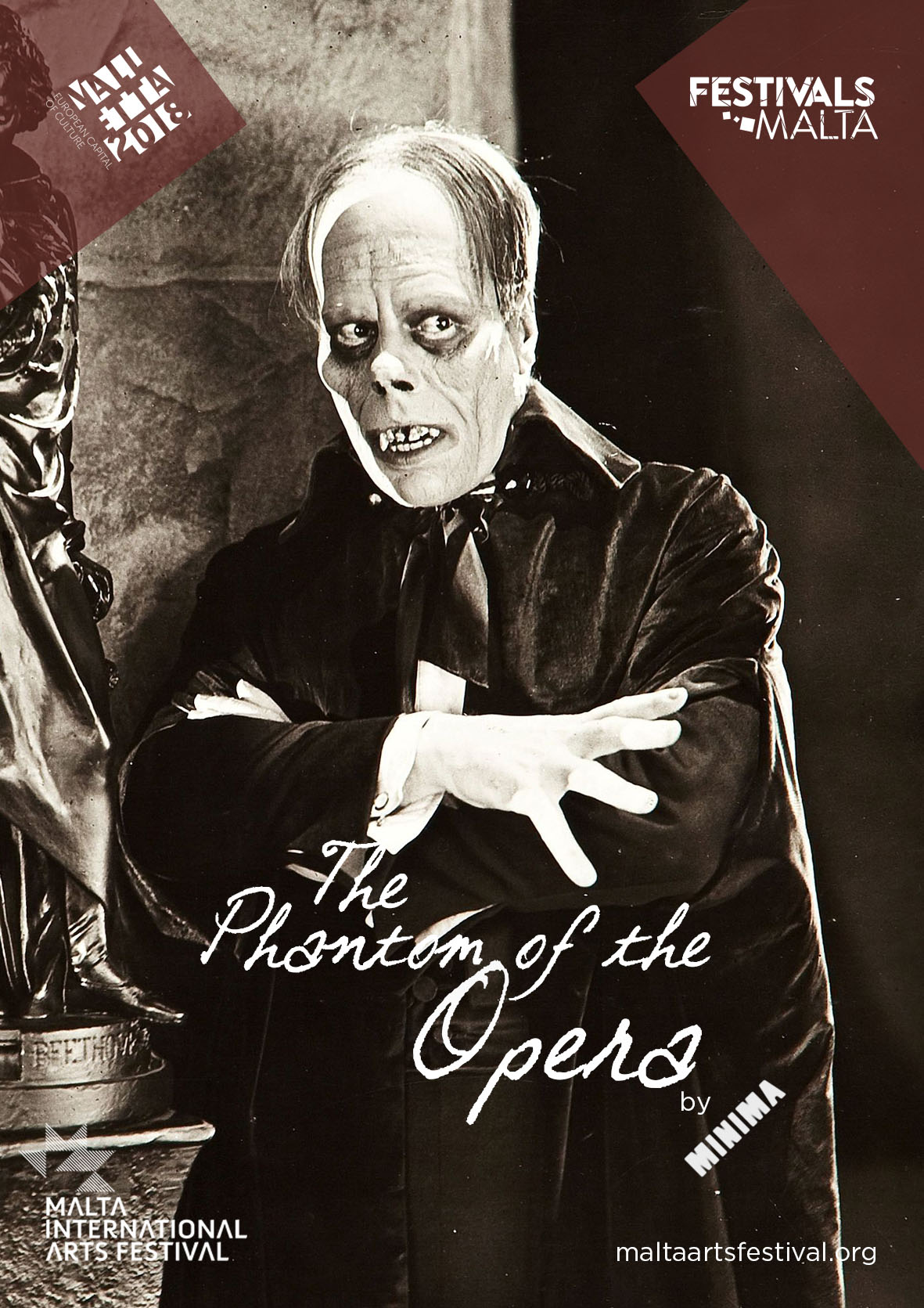 Silent Film – Phantom of the Opera flyer
