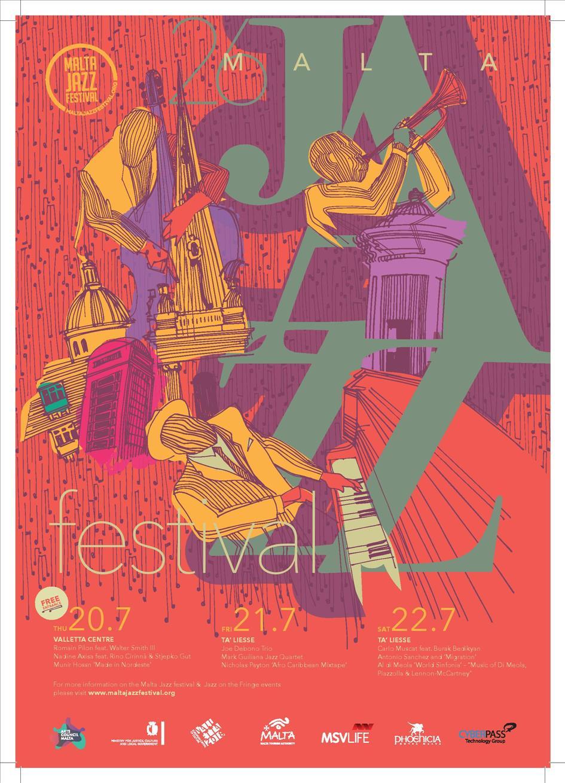 Malta Jazz Festival 2017 flyer