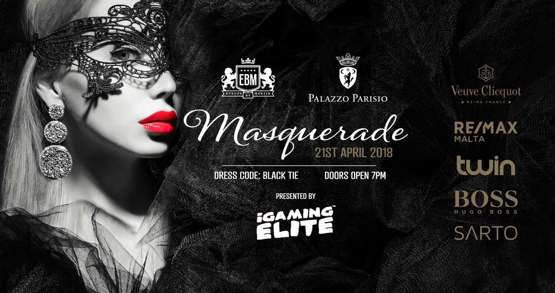 EBM Masquerade at Palazzo Parisio - Presented by iGaming Elite flyer
