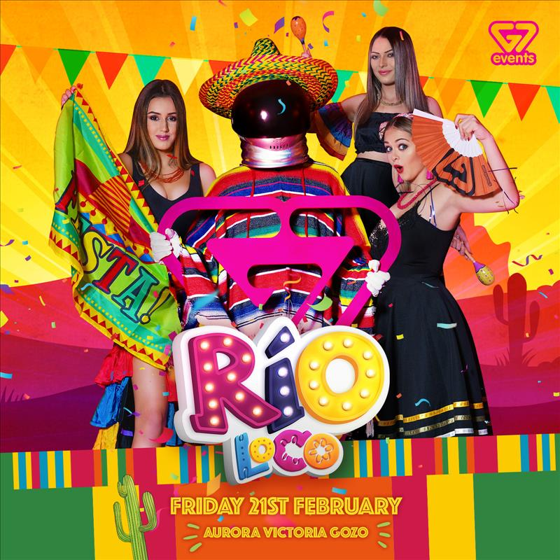 G7 presents RIO LOCO Carnival GOZO flyer
