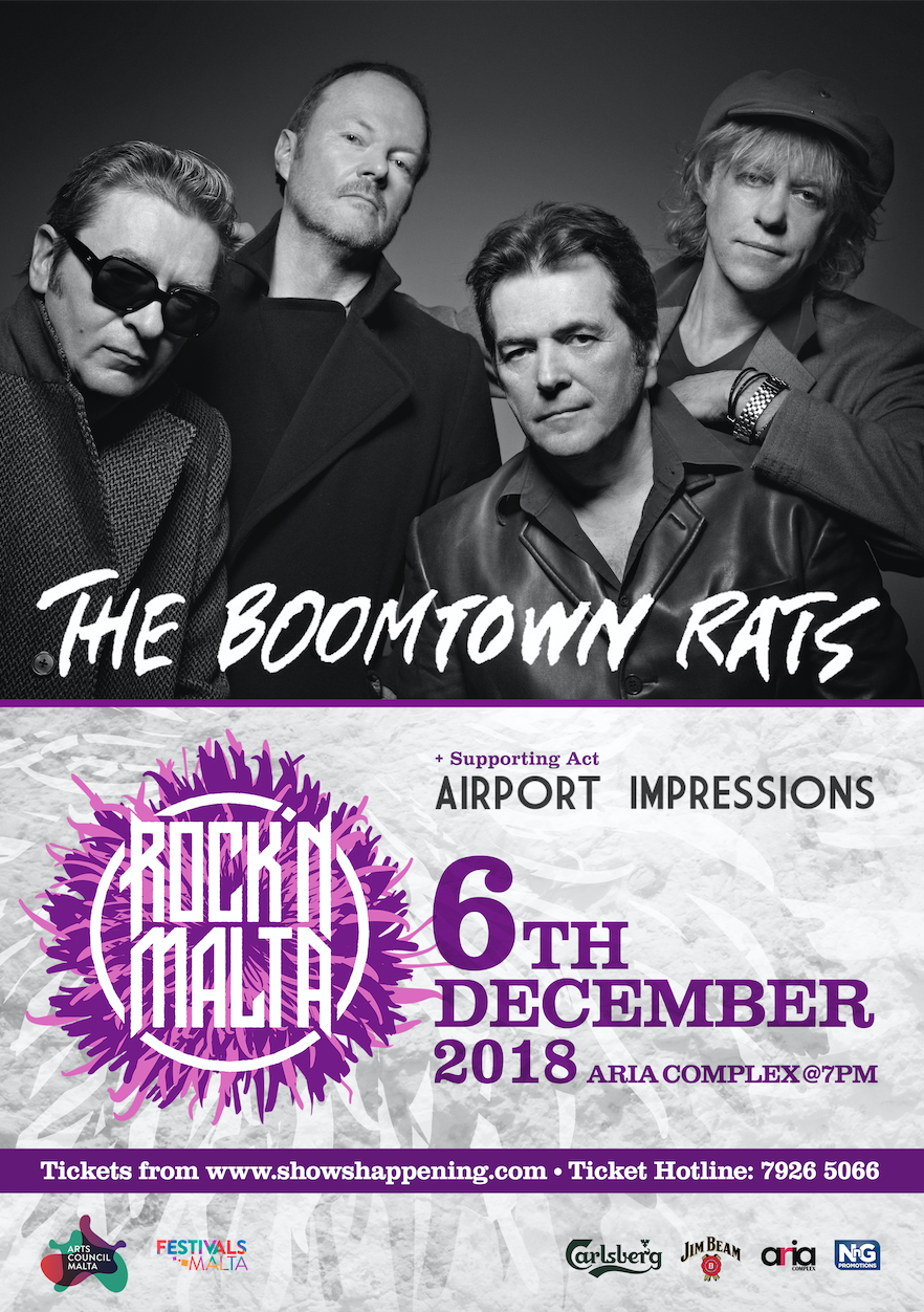 The Boomtown Rats flyer