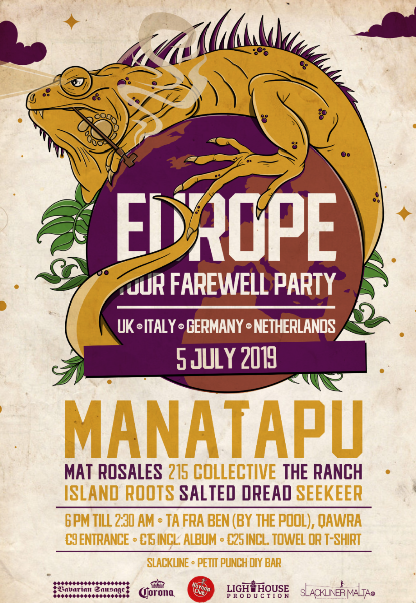 ManaTapu Farewell Party flyer