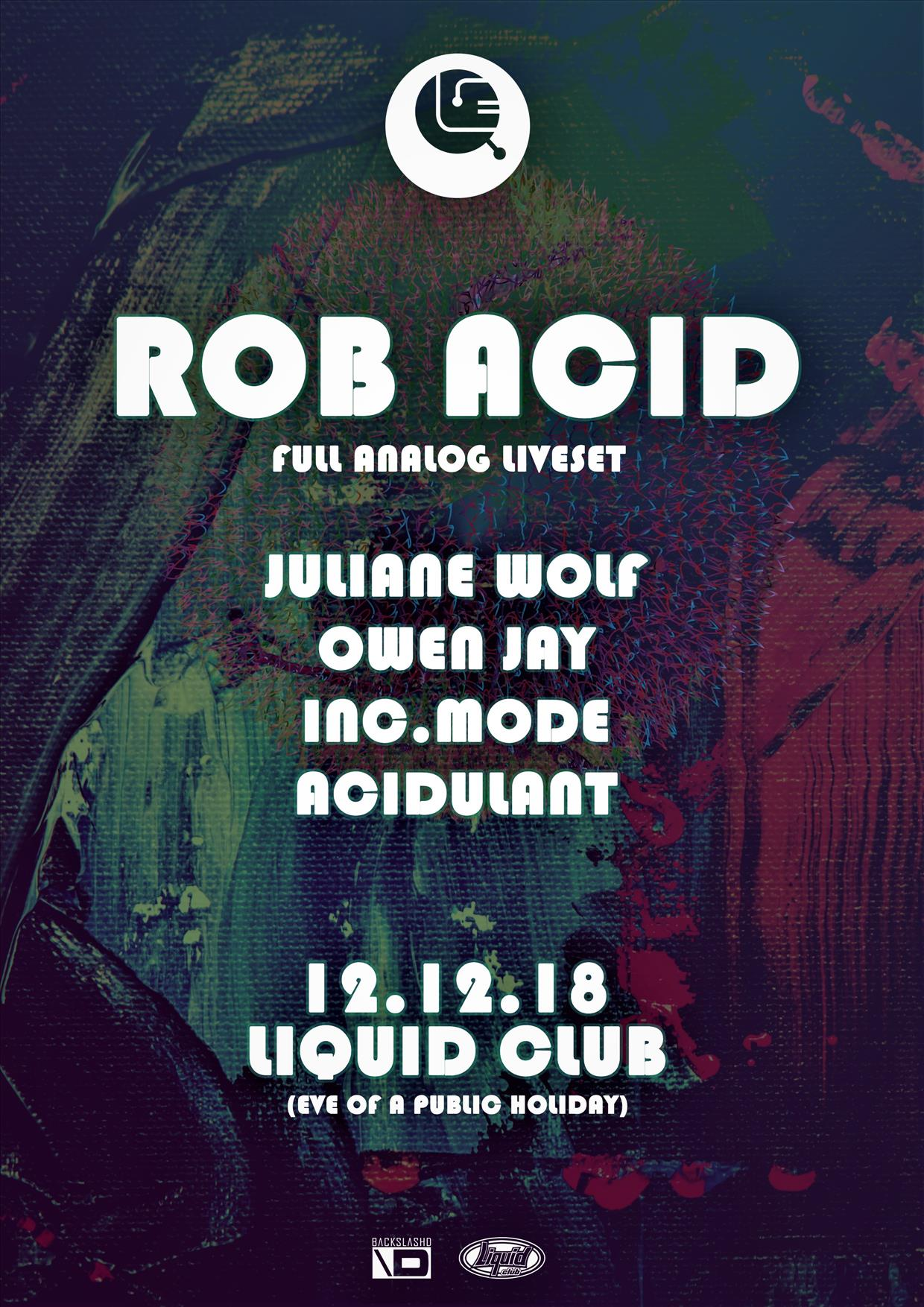 Inscape - Rob Acid - Live flyer